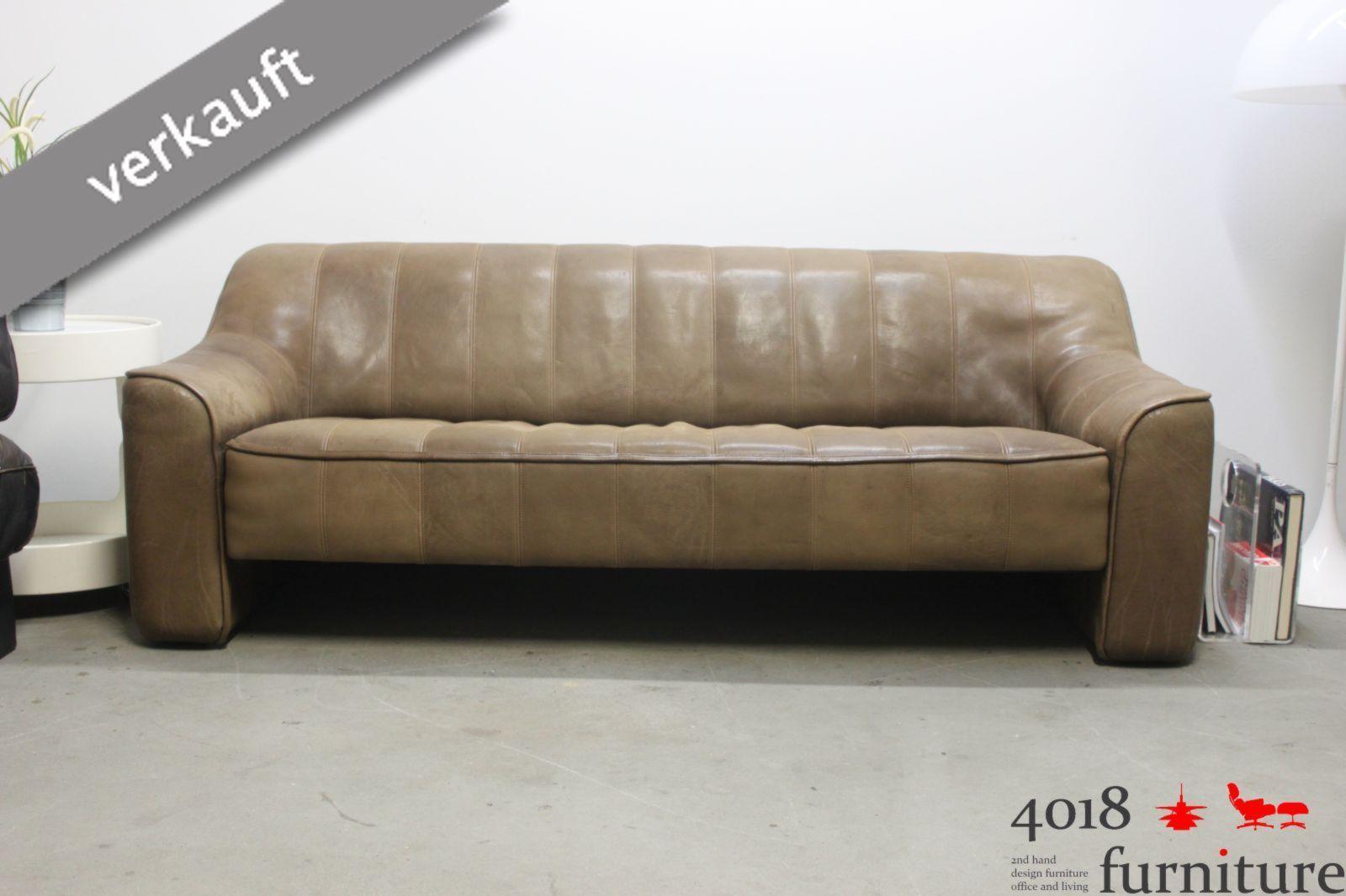 de sede ds 44 neckleder b ffelleder sofa couch canape 3 sitzer braun. Black Bedroom Furniture Sets. Home Design Ideas