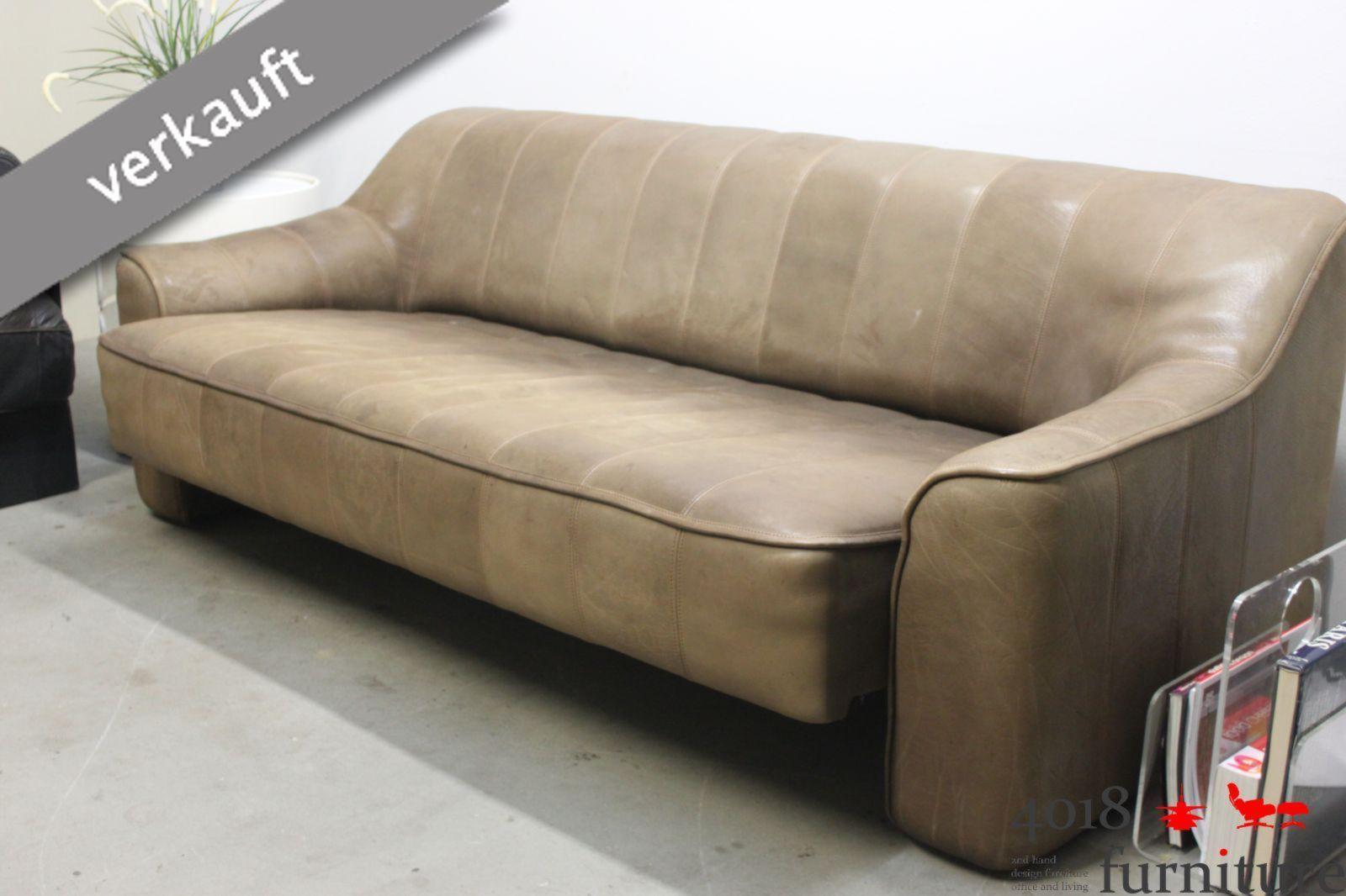 De Sede Ds 44 Neckleder Büffelleder Sofa Couch Canape 3 Sitzer Braun