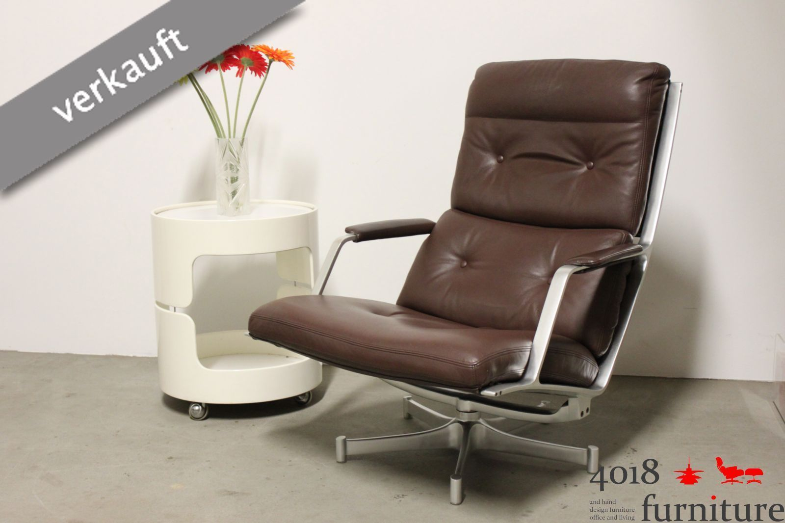 Kill International FK 85 Lounge Chair Preben Fabricius Jorgen Kastholm braun