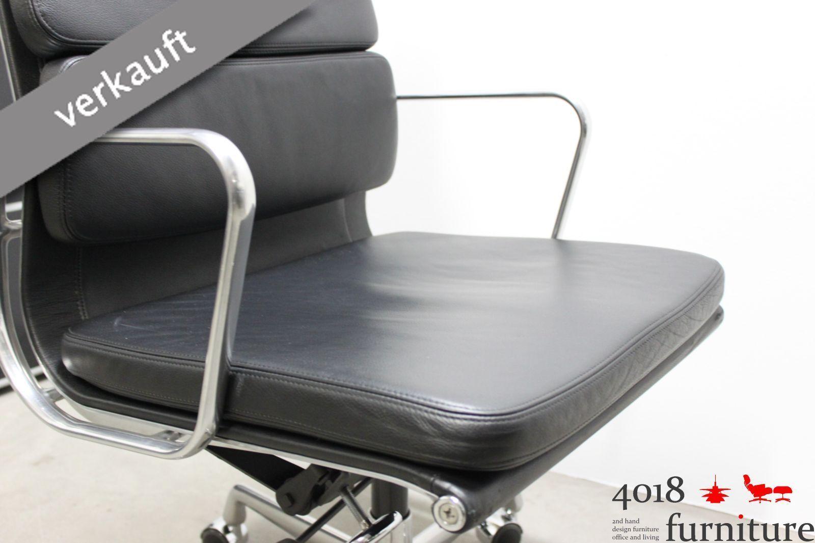 vitra charles eames ea 219 leder schwarz chefsessel alu poliert chair. Black Bedroom Furniture Sets. Home Design Ideas