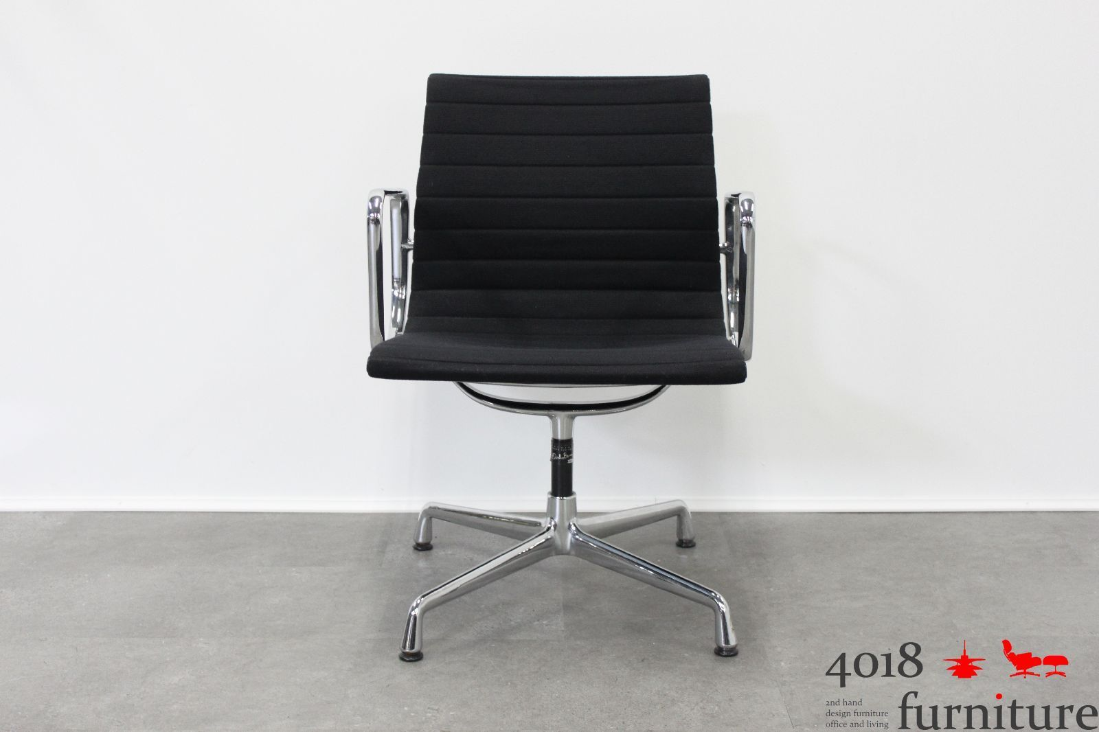 vitra eames ea 108 hopsak schwarz alu chair office besucherstuhl. Black Bedroom Furniture Sets. Home Design Ideas